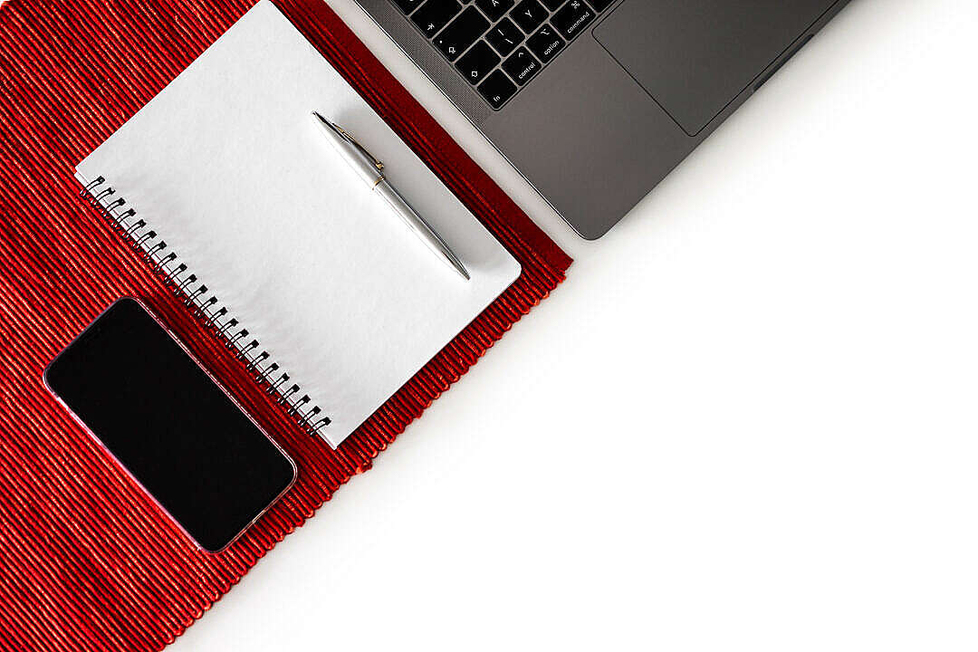 Download Laptop, Notebook and Smartphone with Space for Text FREE Stock Photo