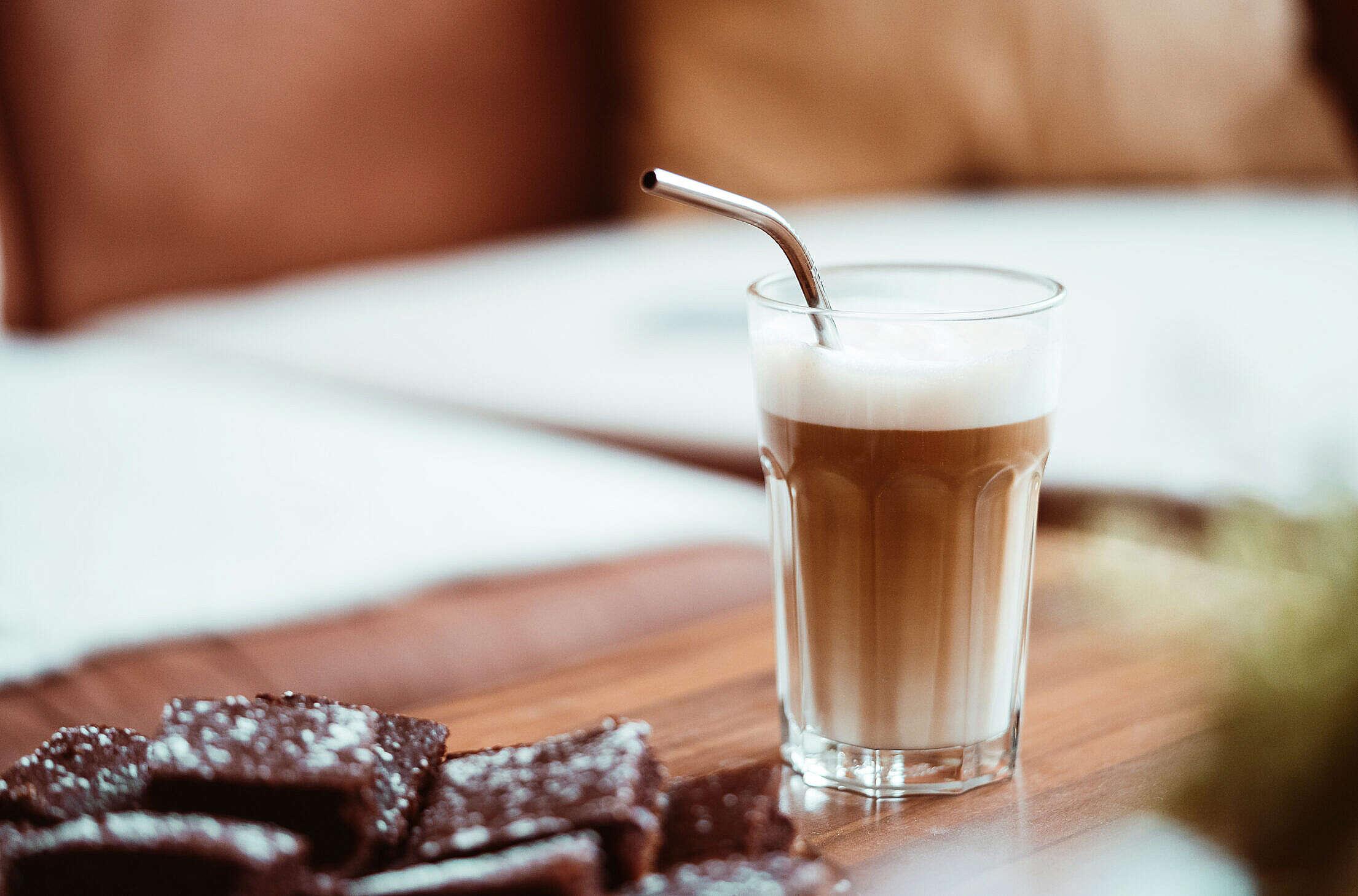 Latte Macchiato Free Stock Photo