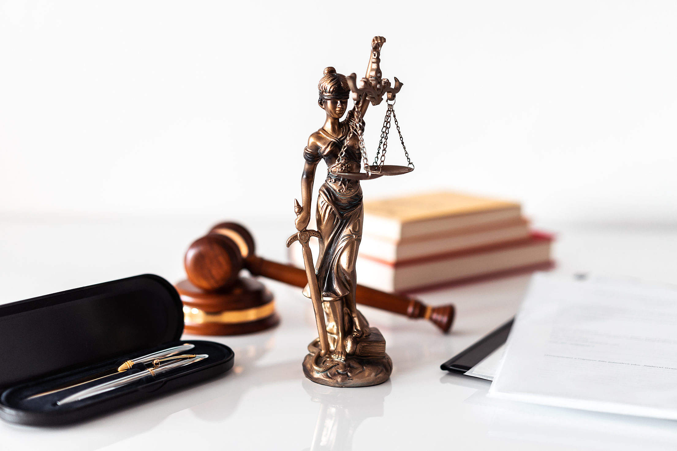 Law Firm Office Blind Lady Justice Free Stock Photo