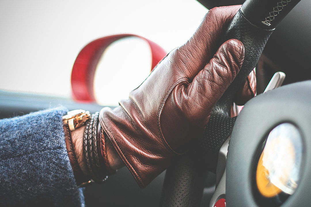 Download Leather Driving Gloves FREE Stock Photo