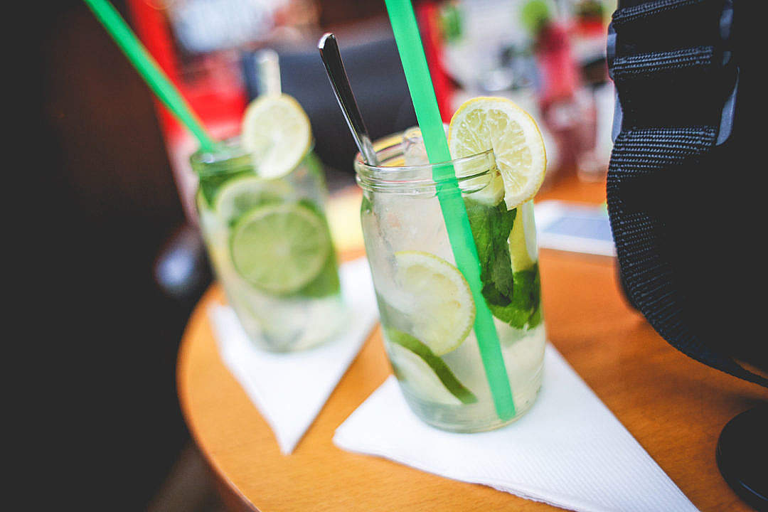 Download Lemon & Mint Lemonades FREE Stock Photo