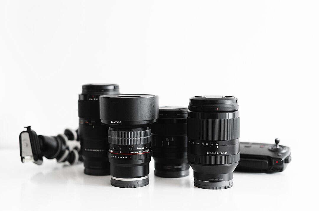 Download Lenses Photographer Camera Setup FREE Stock Photo