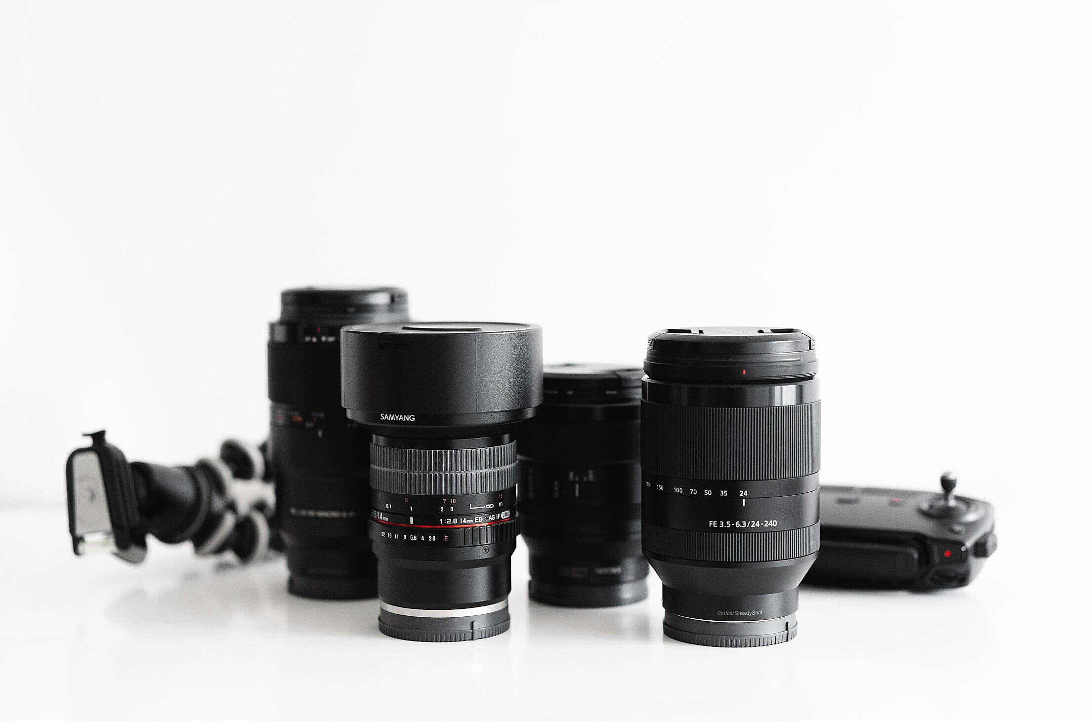 Lenses Photographer Camera Setup Free Stock Photo