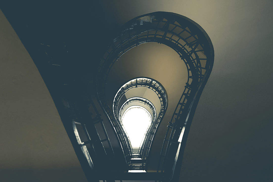 Download Lightbulb Stairs in House of the Black Madonna, Prague #2 FREE Stock Photo