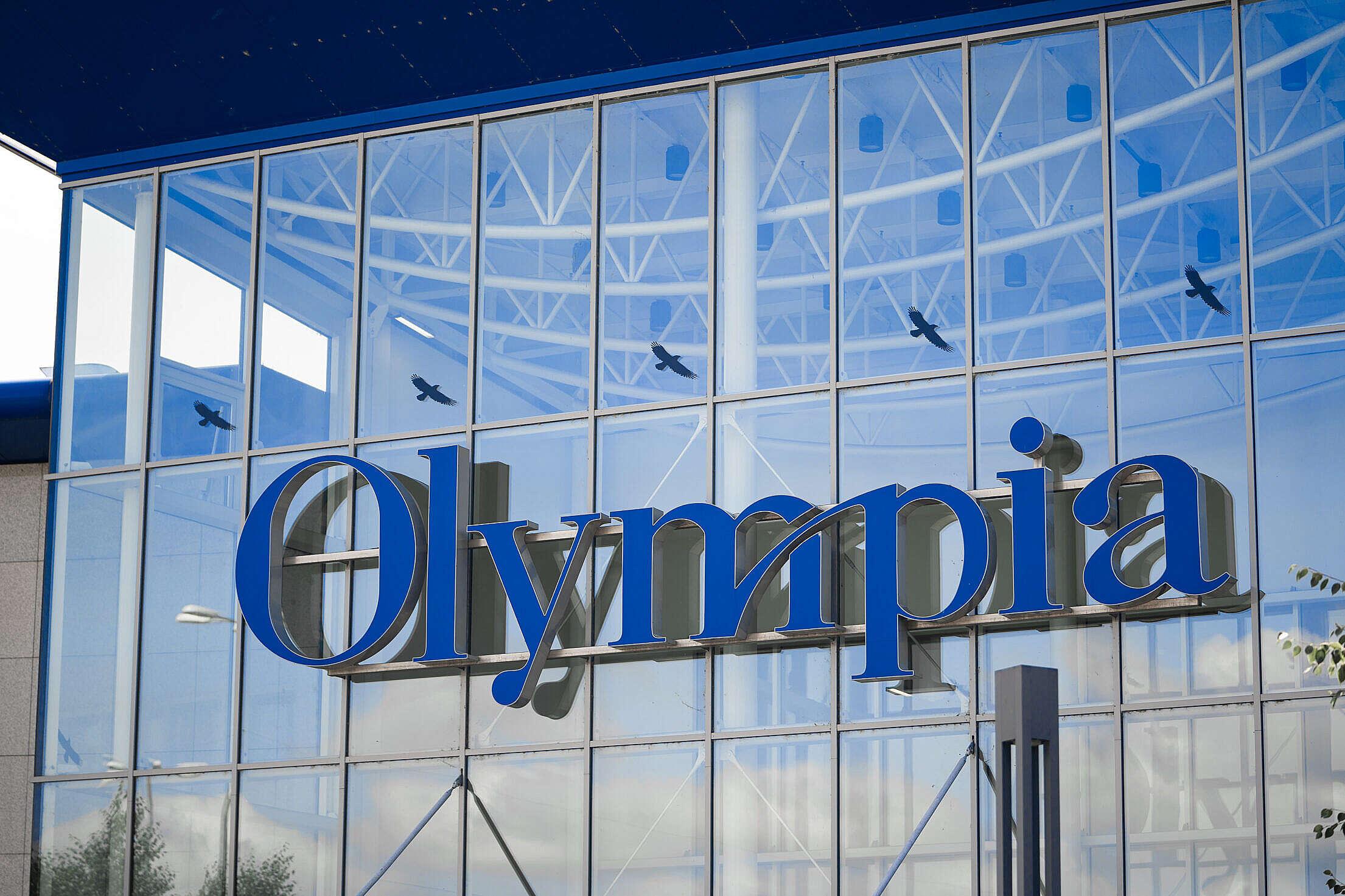 Logo of Olympia Shopping Center in Brno, Czechia Free Stock Photo