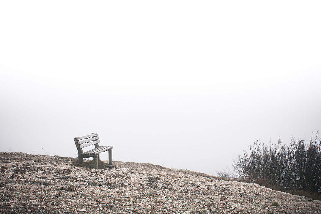 Download Lonely Bench at The End of The World FREE Stock Photo