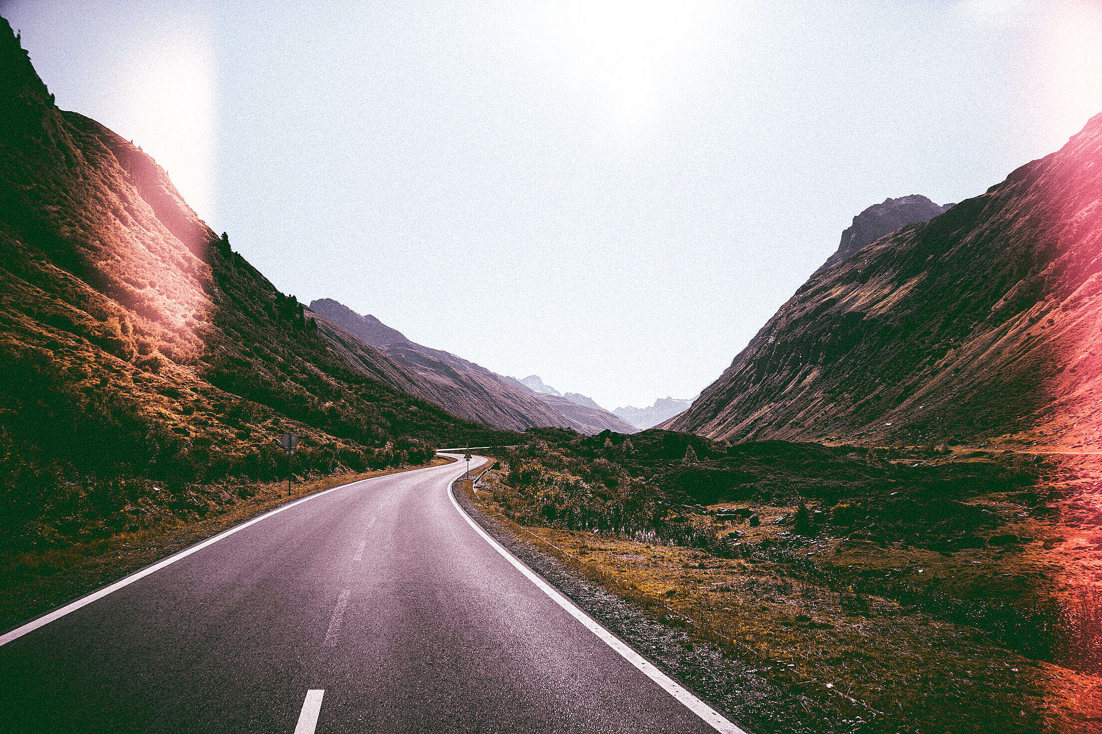 Lonely Road Free Stock Photo