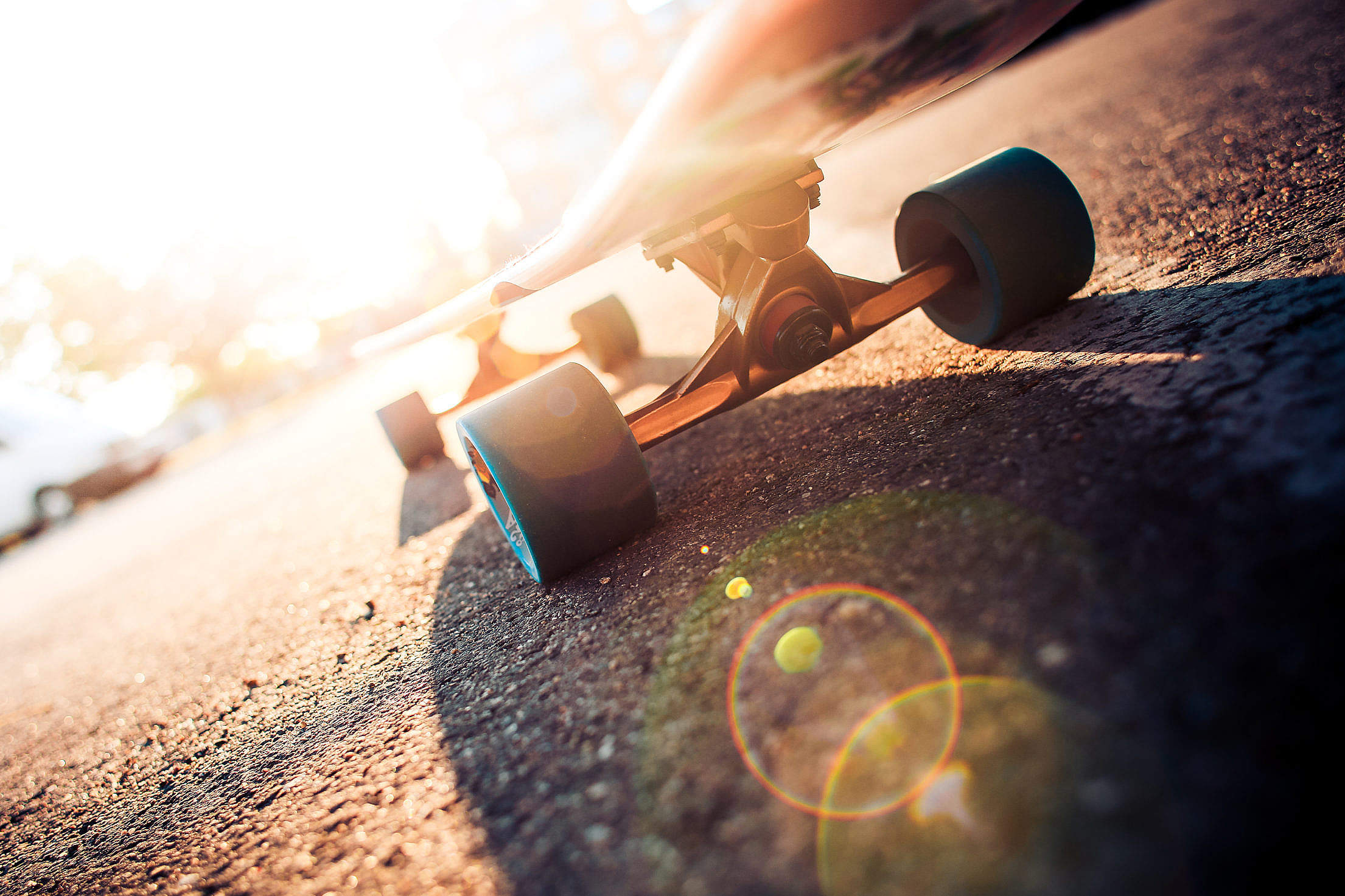 Longboard Truck & Wheels Close Up Free Stock Photo