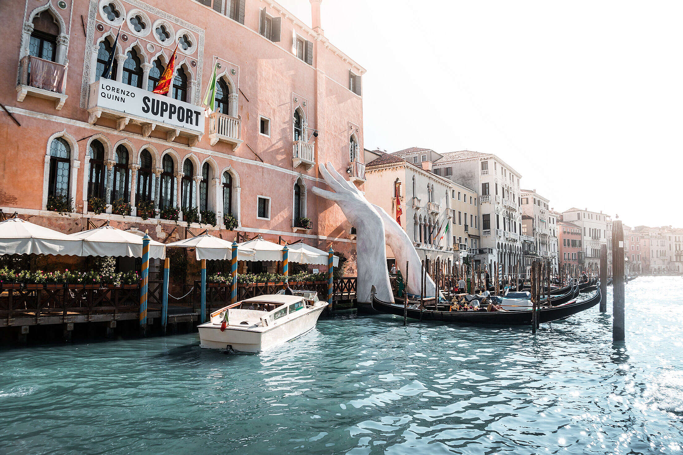 Lorenzo Quinn Support Venice Free Stock Photo