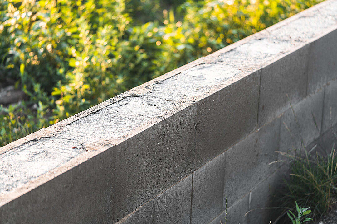 Download Lost Formwork Concrete Foundation for Fence FREE Stock Photo