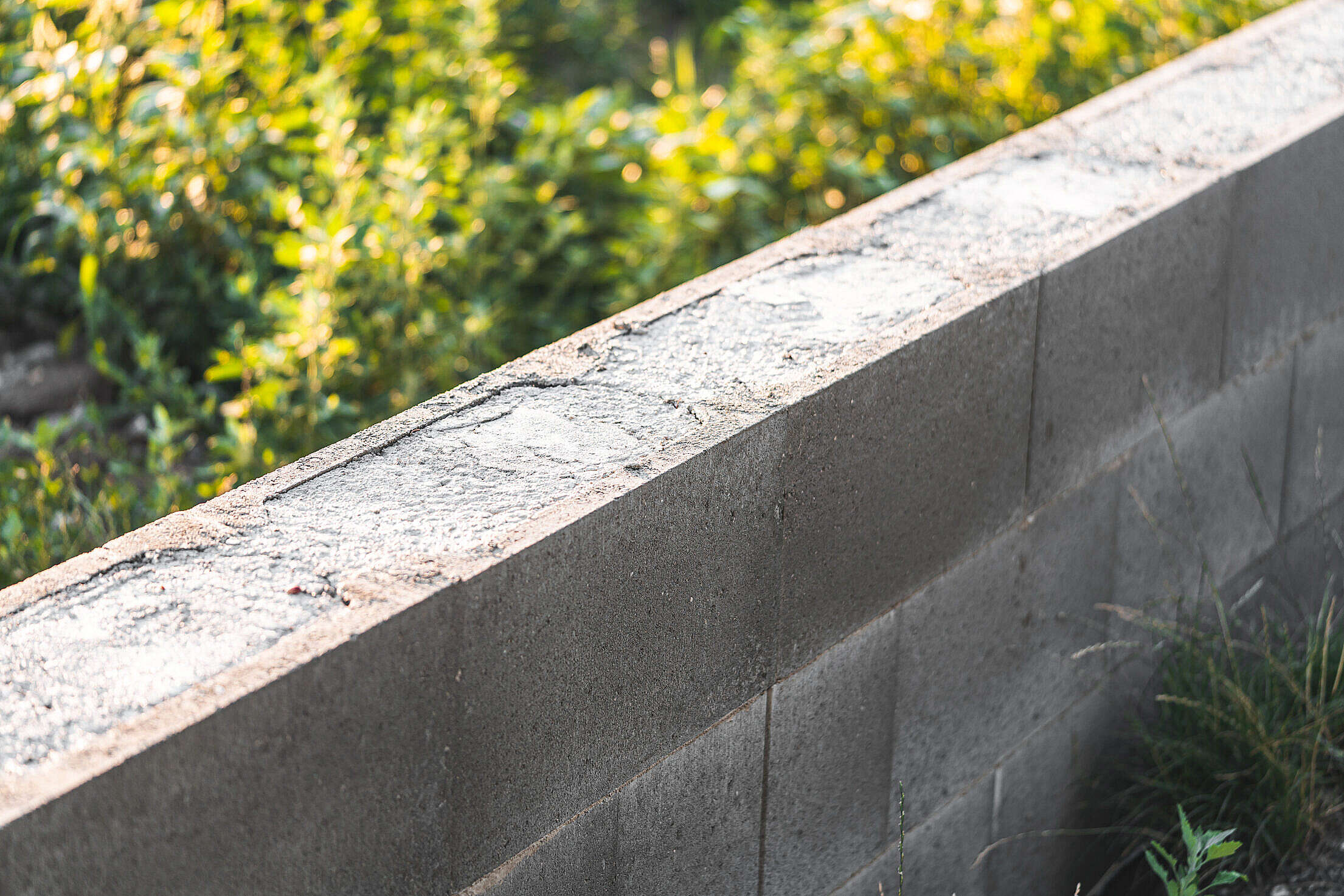 Lost Formwork Concrete Foundation for Fence Free Stock Photo