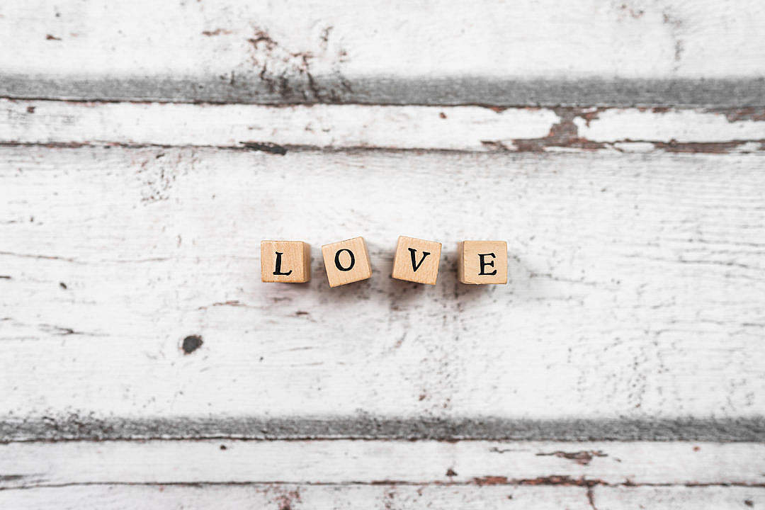 Download Love Wooden Letters FREE Stock Photo