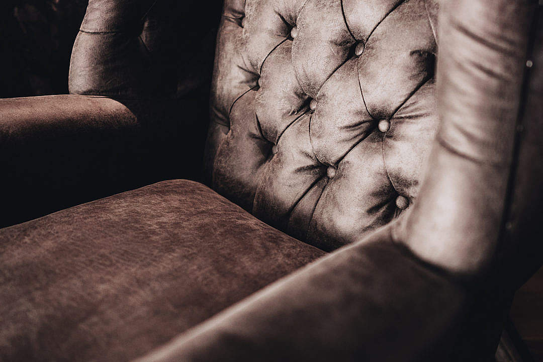 Download Luxury Leather Armchair in Living Room FREE Stock Photo