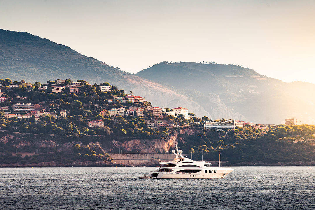 Download Luxury Yacht Cruising in The Bay FREE Stock Photo