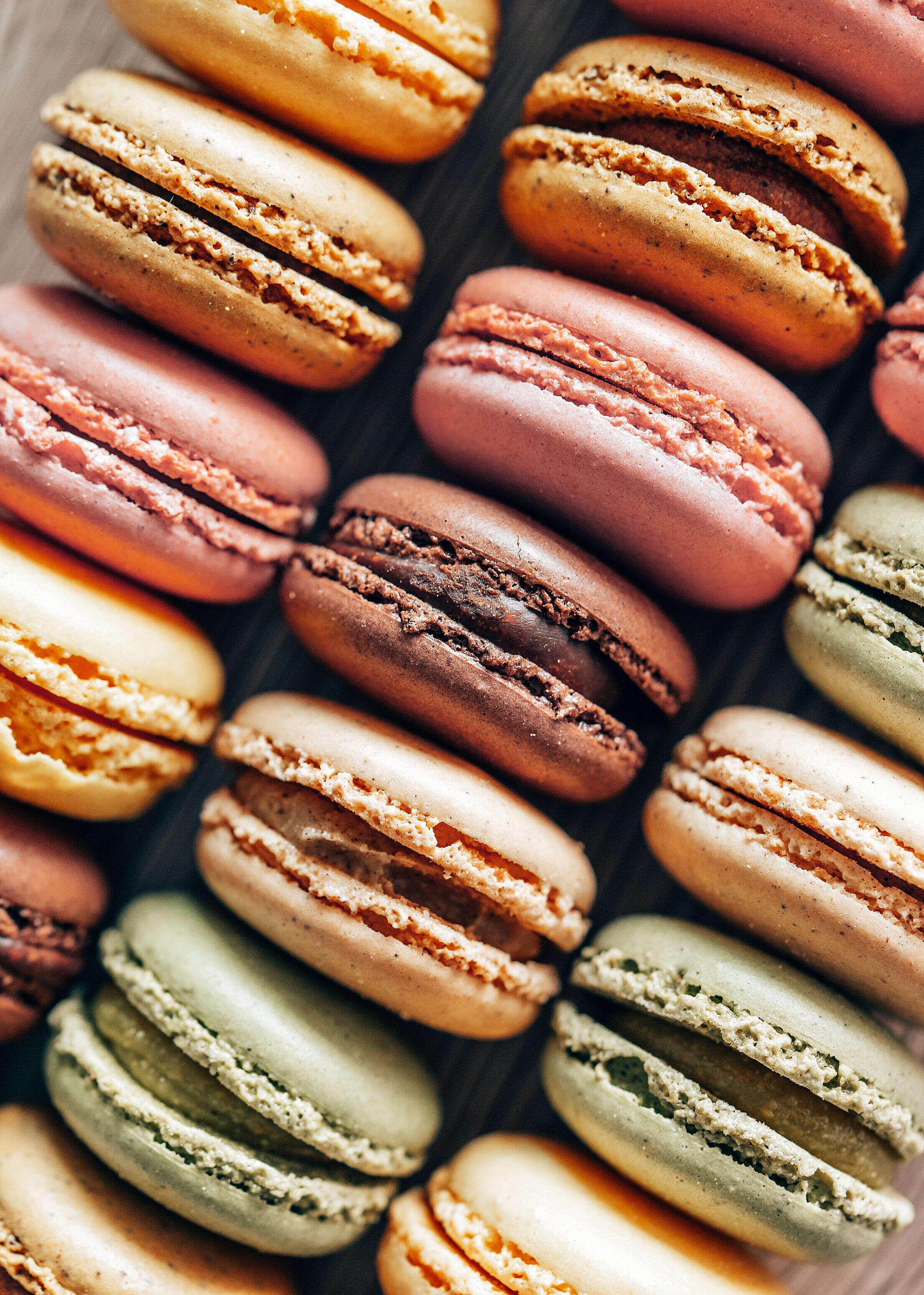Macarons Vertical Free Stock Photo
