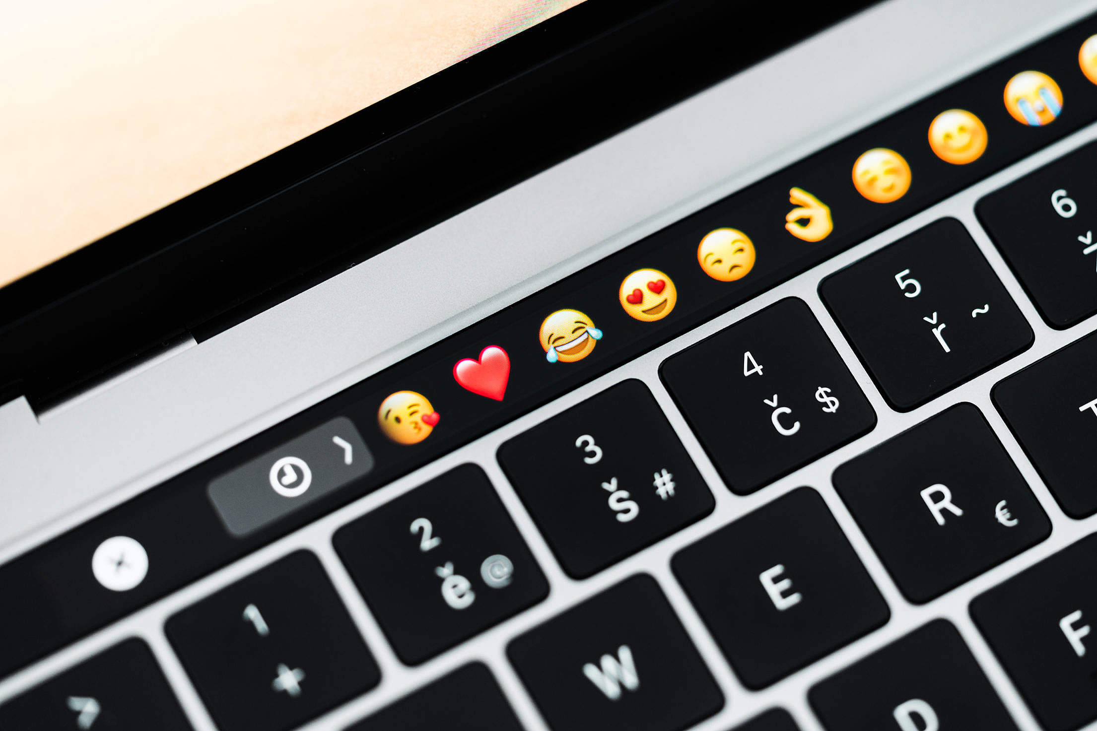 MacBook Pro Touchbar Free Stock Photo