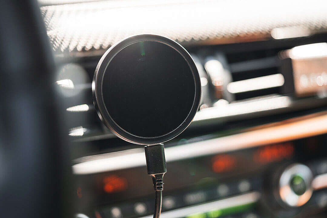 Download MagSafe Car Charger for iPhone FREE Stock Photo
