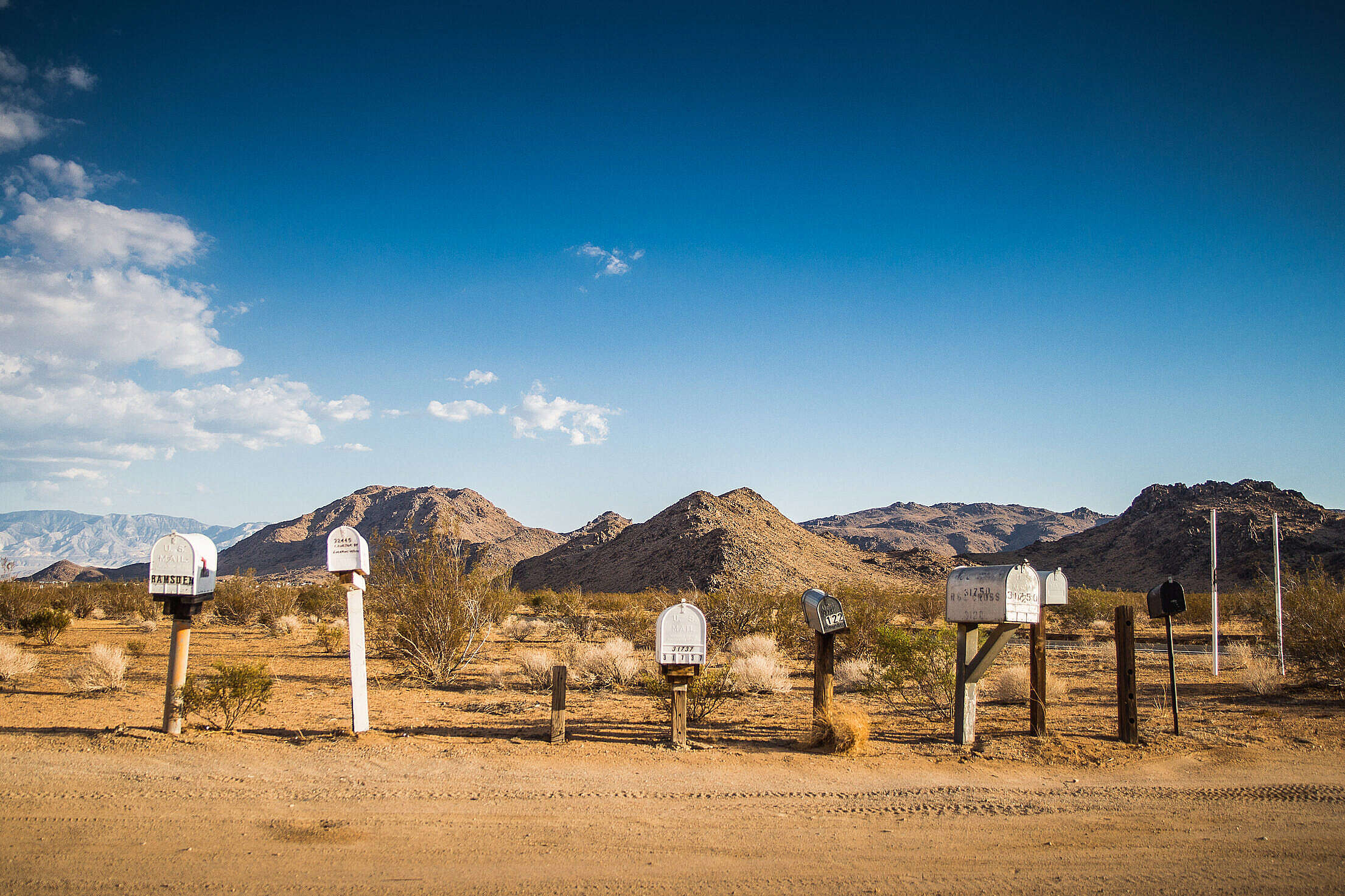 Mail Boxes On The Way To Grand Canyon Free Stock Photo
