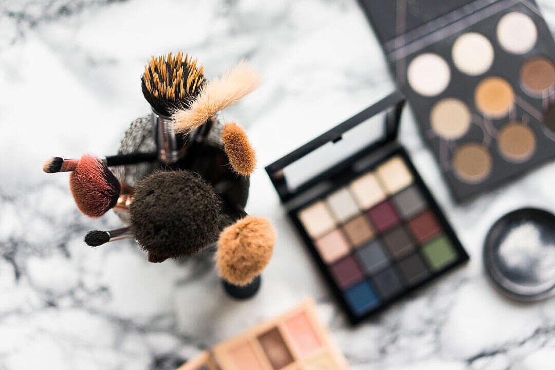 Download Makeup Brushes FREE Stock Photo