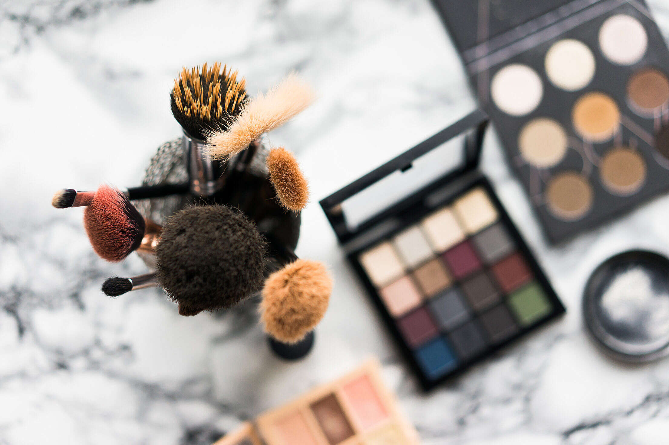 Makeup Brushes Free Stock Photo