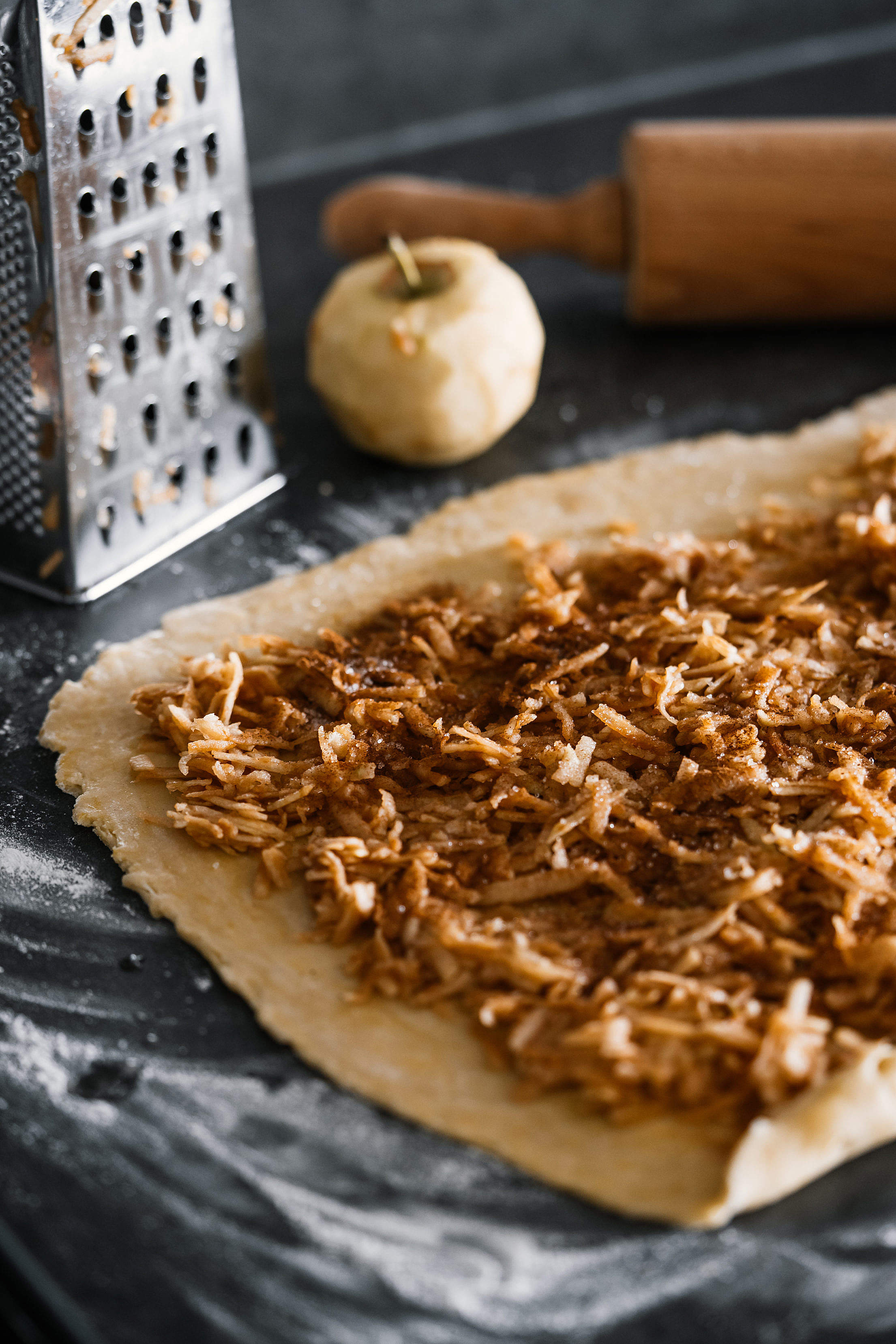 Making Homemade Apple Strudel Vertical Free Stock Photo