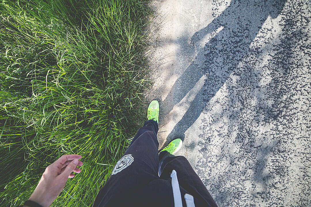 Download Man in Running Shoes Ready to Run FREE Stock Photo