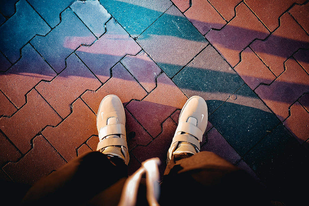 Download Man in Stylish Gold Shoes Crazy Colorful Edit FREE Stock Photo