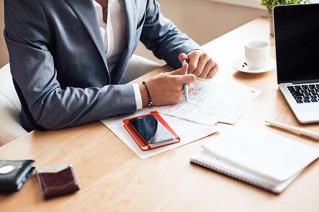 Download Man Wearing Blue Blazer on Business Meeting FREE Stock Photo