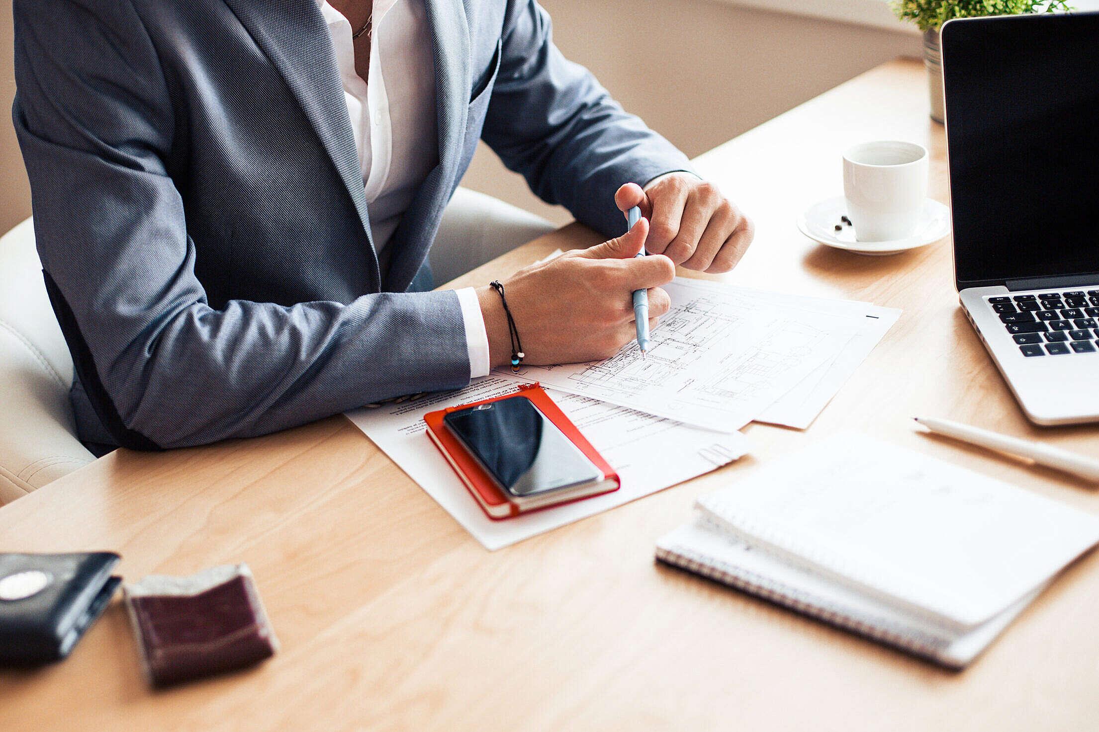 Man Wearing Blue Blazer on Business Meeting Free Stock Photo
