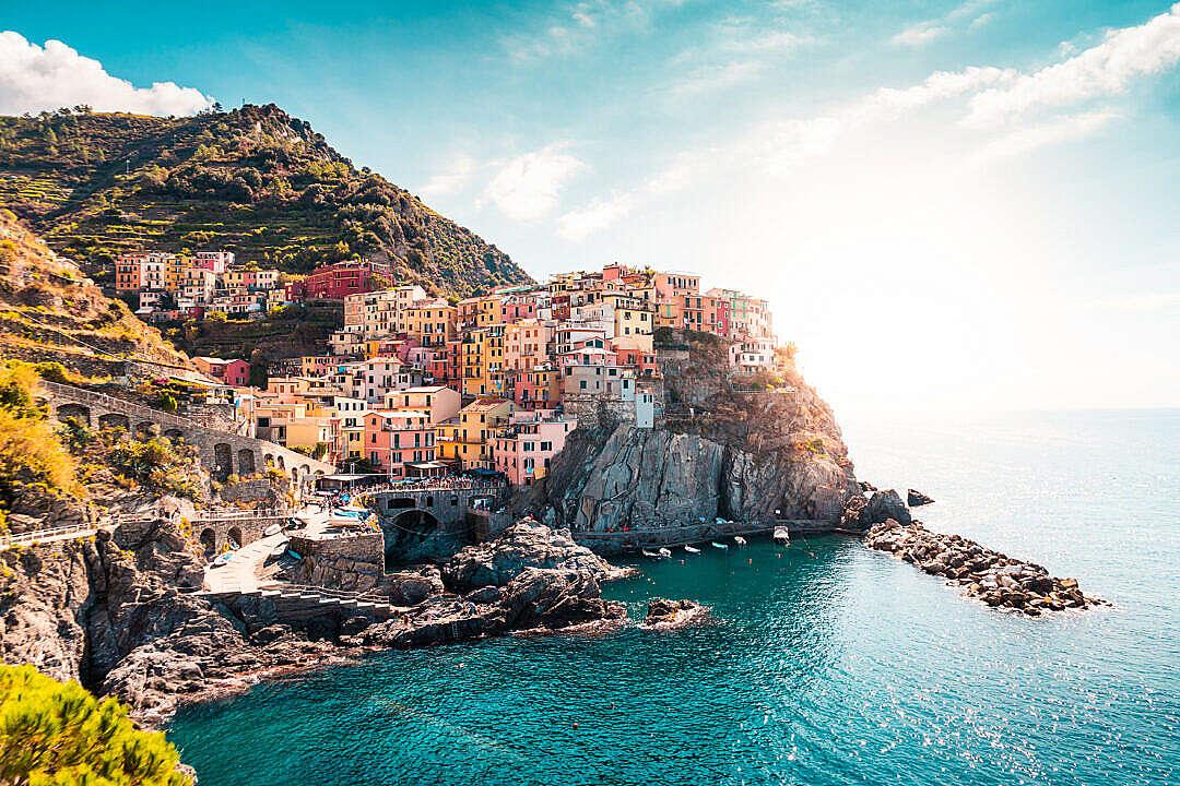Download Manarola, La Spezia, Italy FREE Stock Photo