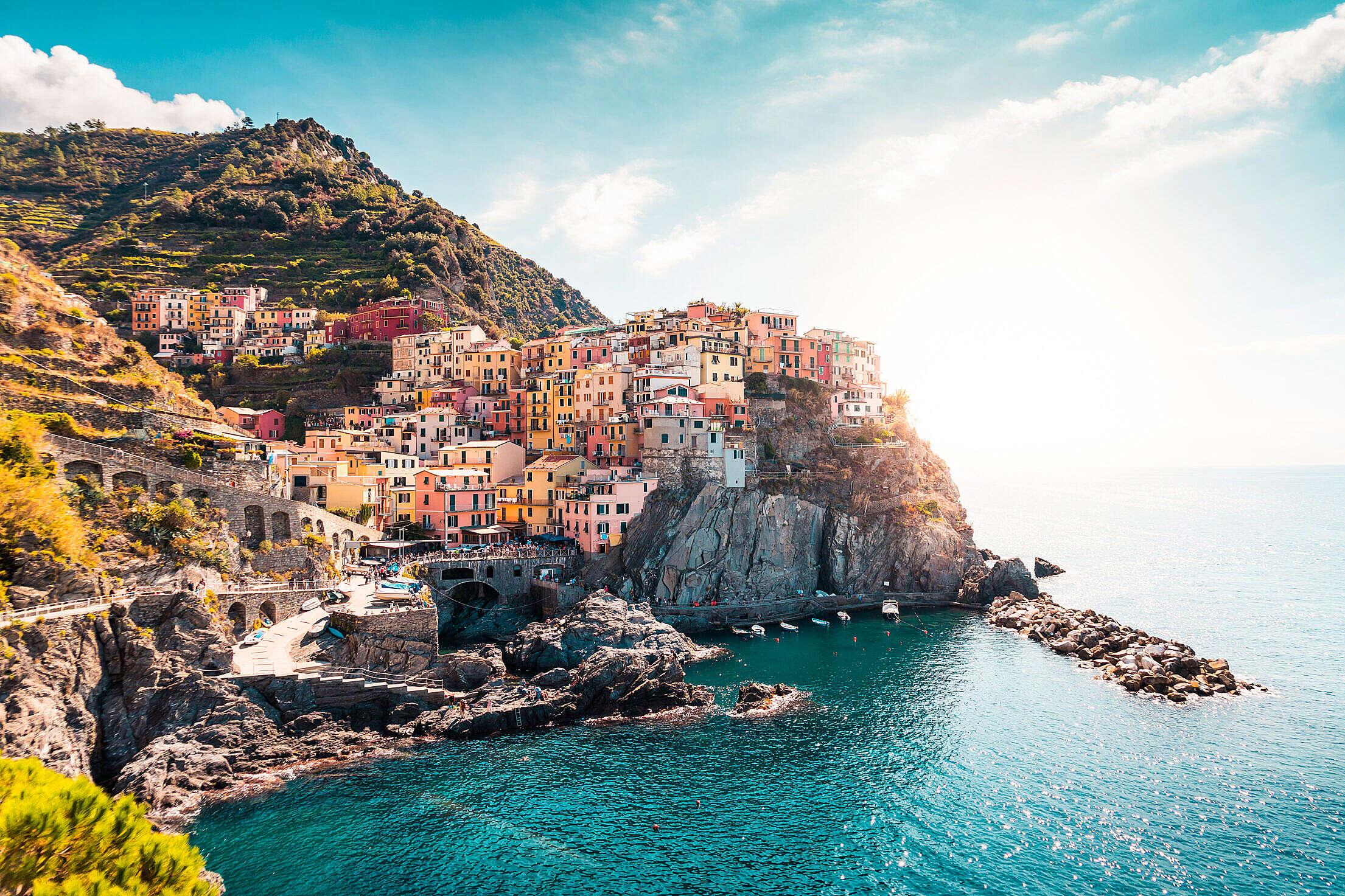 Manarola, La Spezia, Italy Free Stock Photo