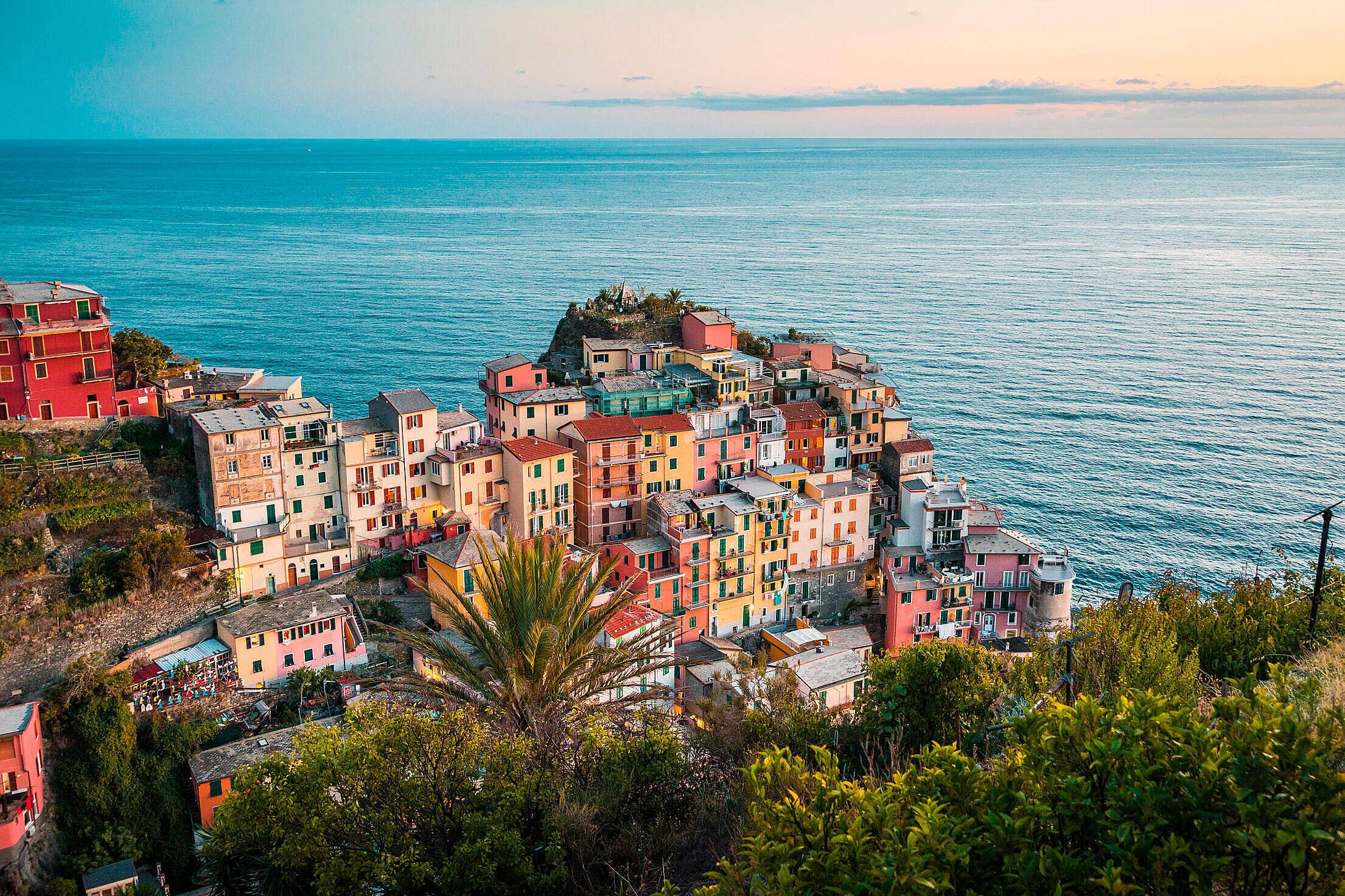 Manarola Most Beautiful Village in Italy Free Stock Photo