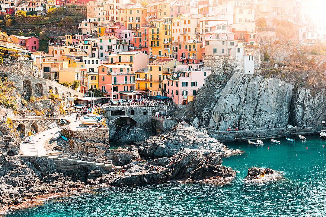 Download Manarola Town in Cinque Terre, Italy FREE Stock Photo