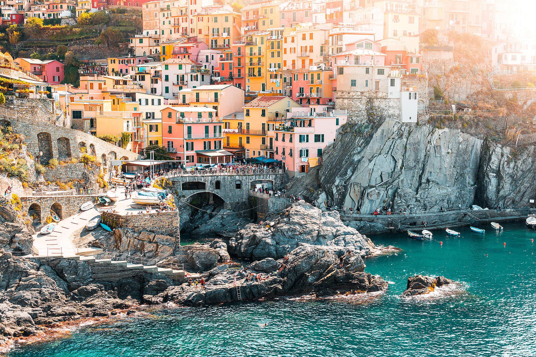 Manarola Town in Cinque Terre, Italy Free Stock Photo