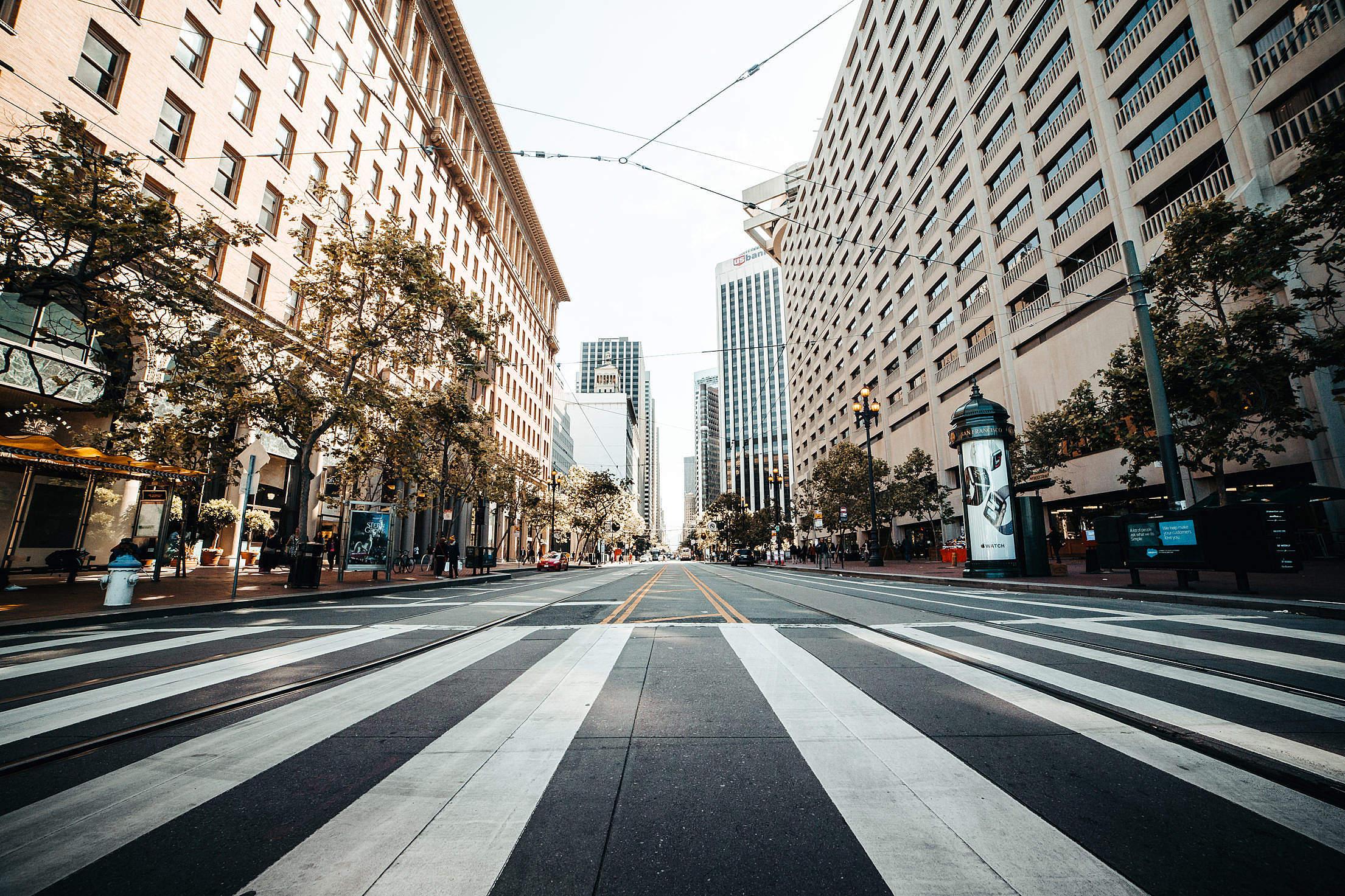 Market Street in San Francisco, California Free Stock Photo