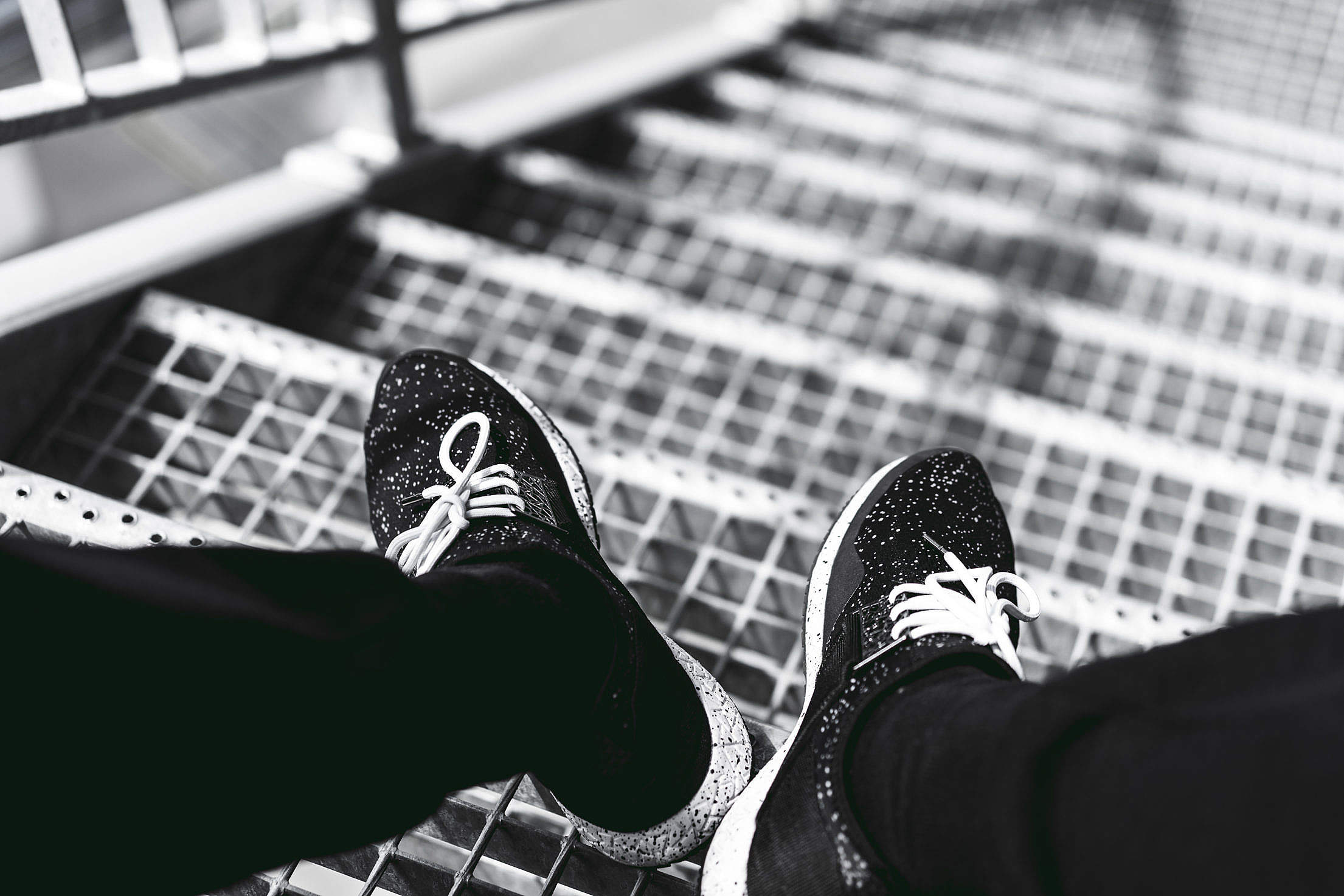 Men Streetwear Running Shoes Free Stock Photo