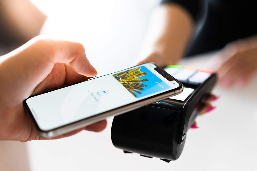 Download Merchant Apple Pay Contactless Payment FREE Stock Photo
