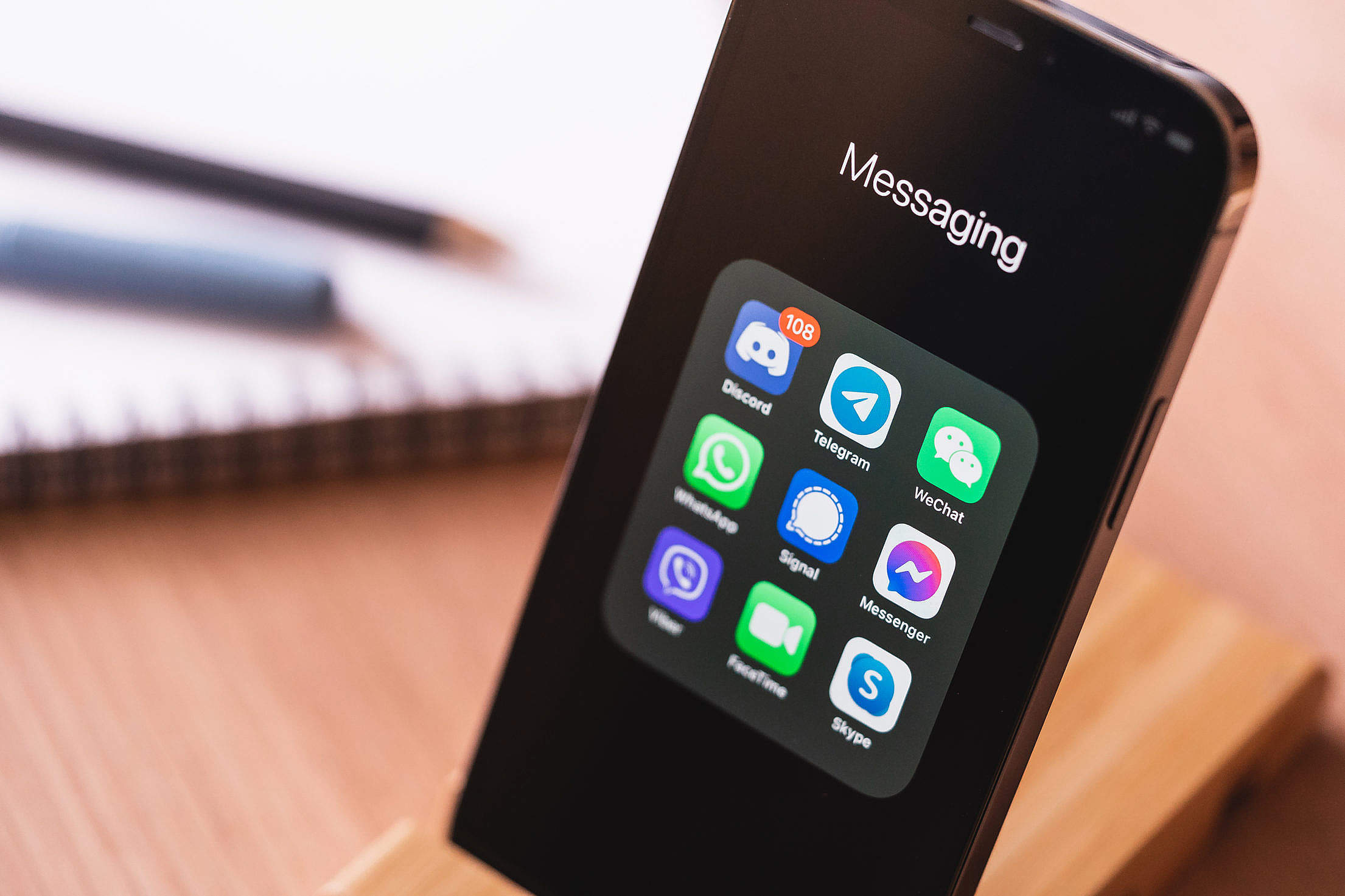 Messaging Application Free Stock Photo