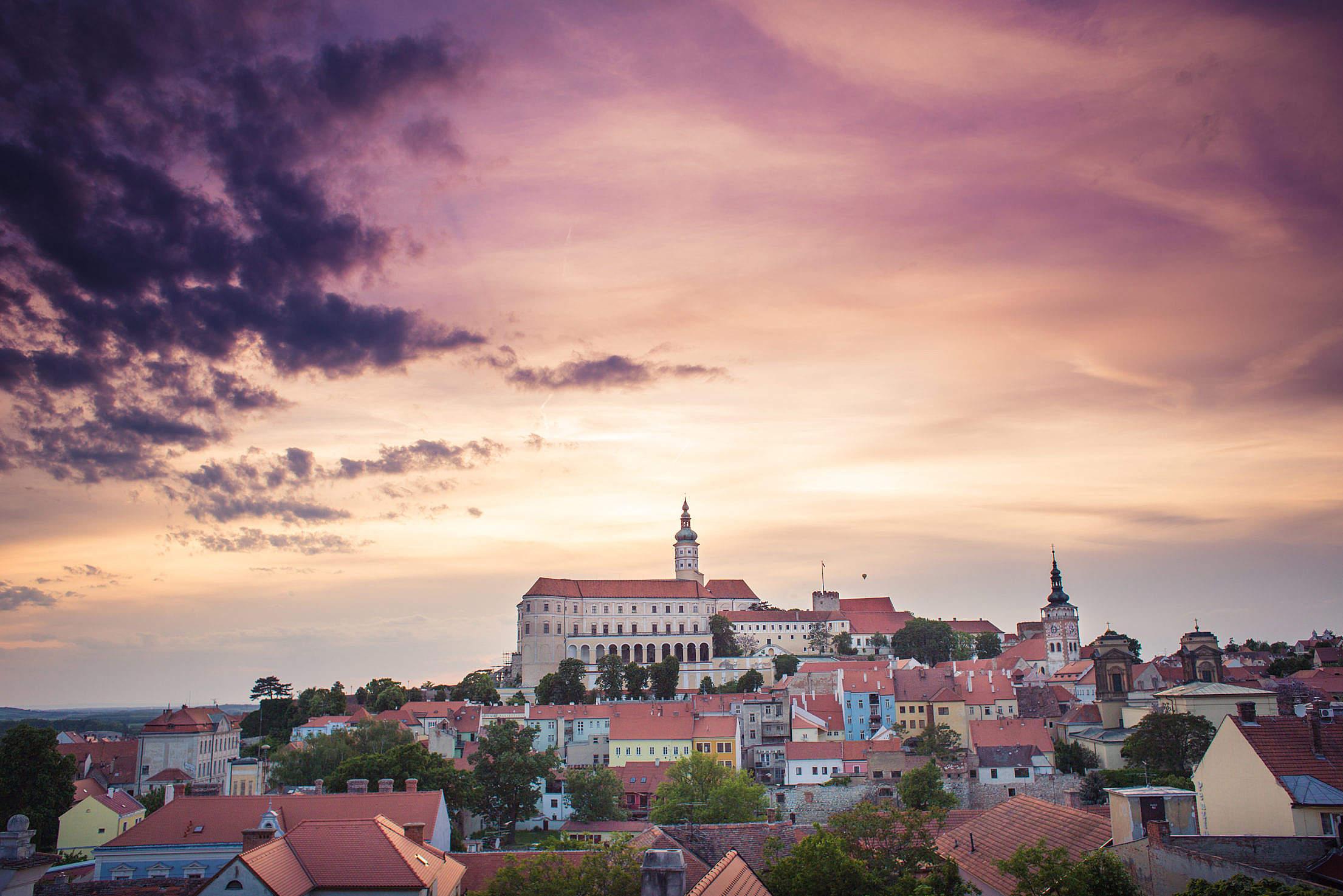 Mikulov City Landscape, Czech Republic Free Stock Photo