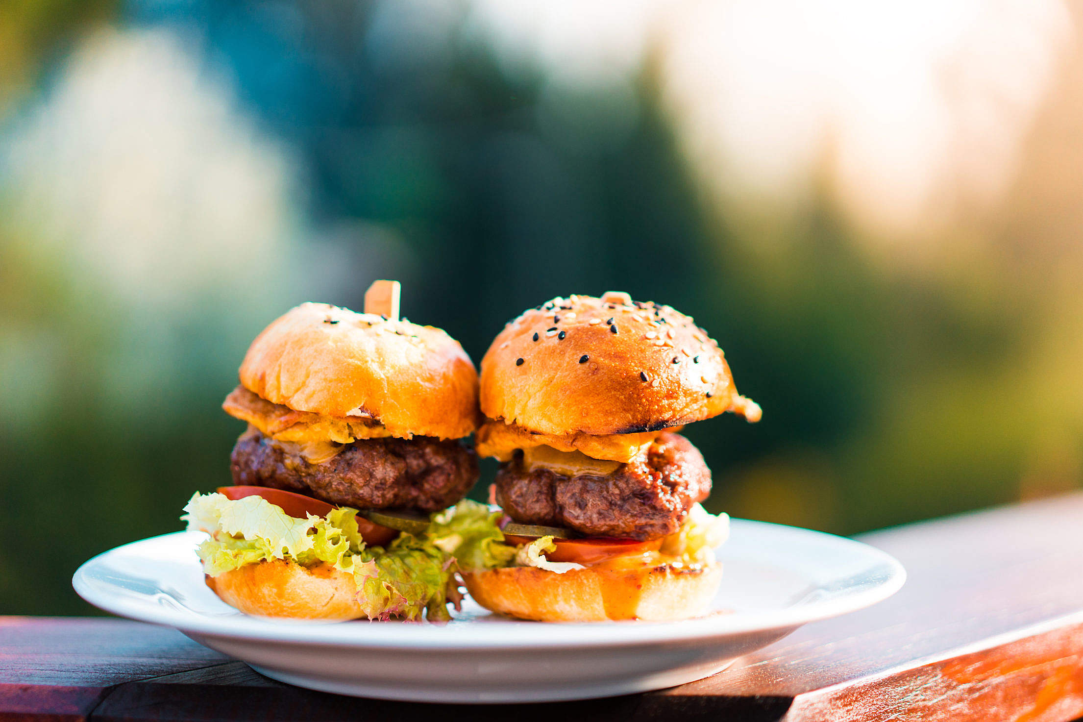 Mini Hamburgers Free Stock Photo