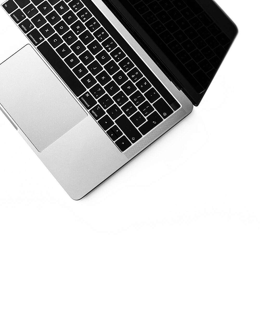 Download Minimalistic Laptop Keyboard Isolated FREE Stock Photo