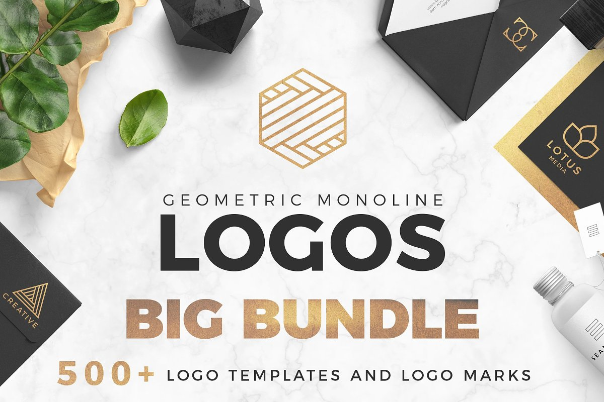 500+ Logo Templates and Logo Marks Bundle