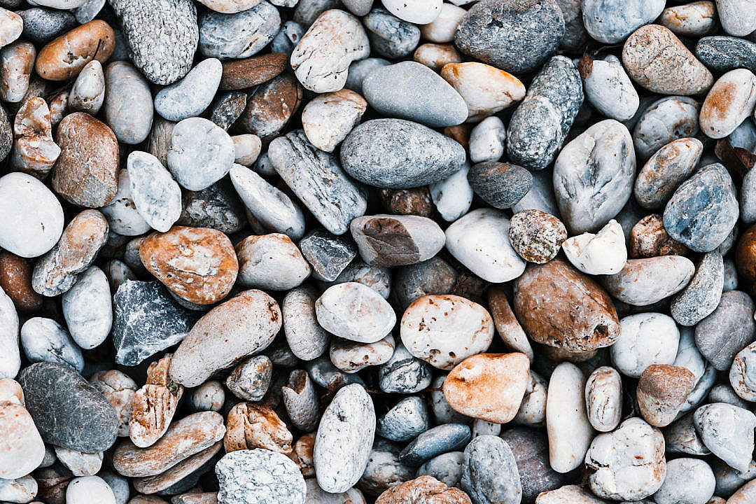 Download Mixture of Pebbles and Stones Pattern FREE Stock Photo