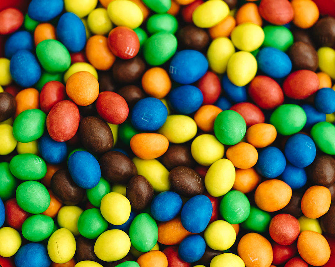 Download M&M's Peanut Chocolates Background FREE Stock Photo