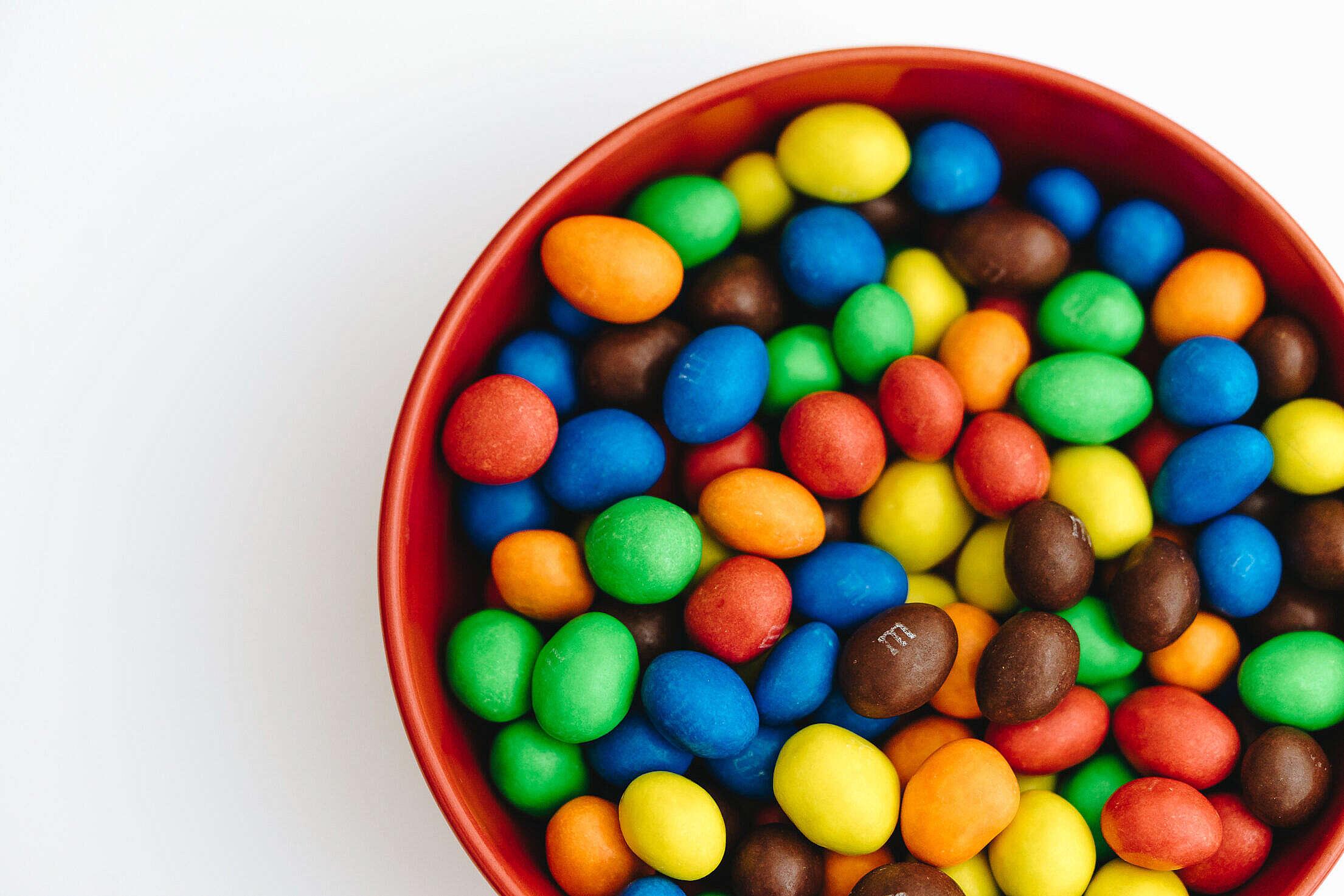 M&M's Peanut Chocolates Free Stock Photo