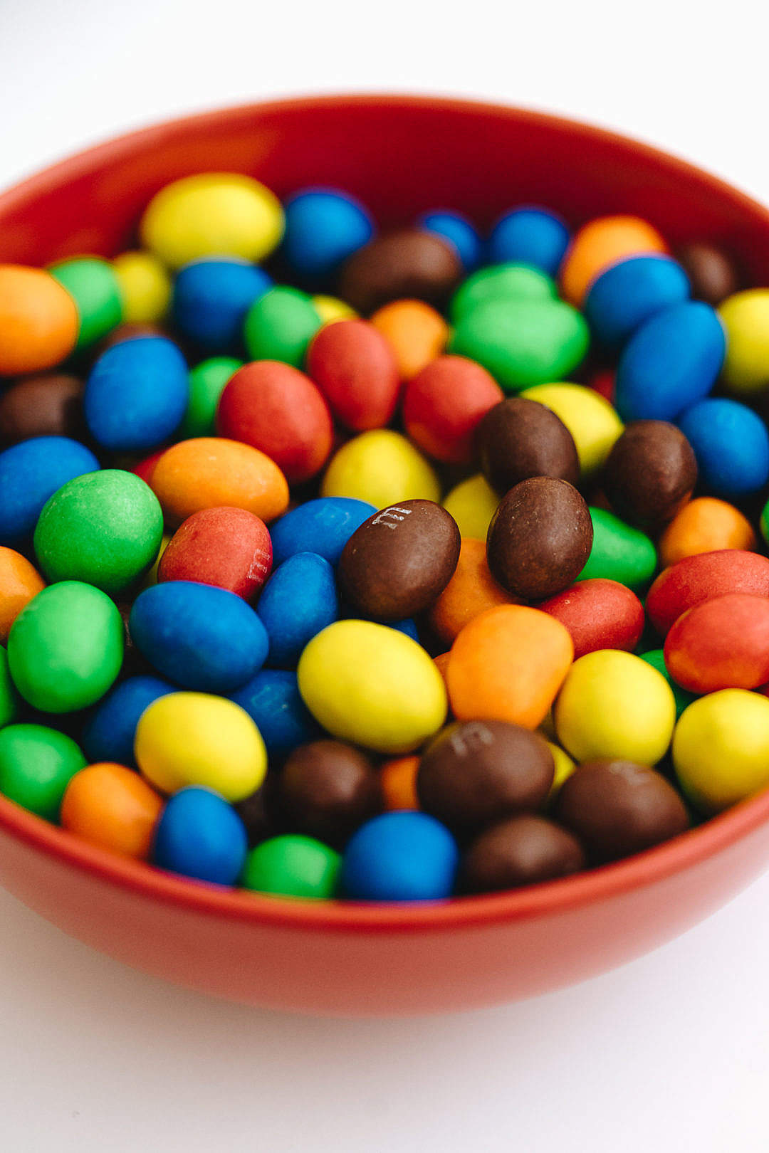 Download M&M's Peanut Chocolates in a Bowl FREE Stock Photo