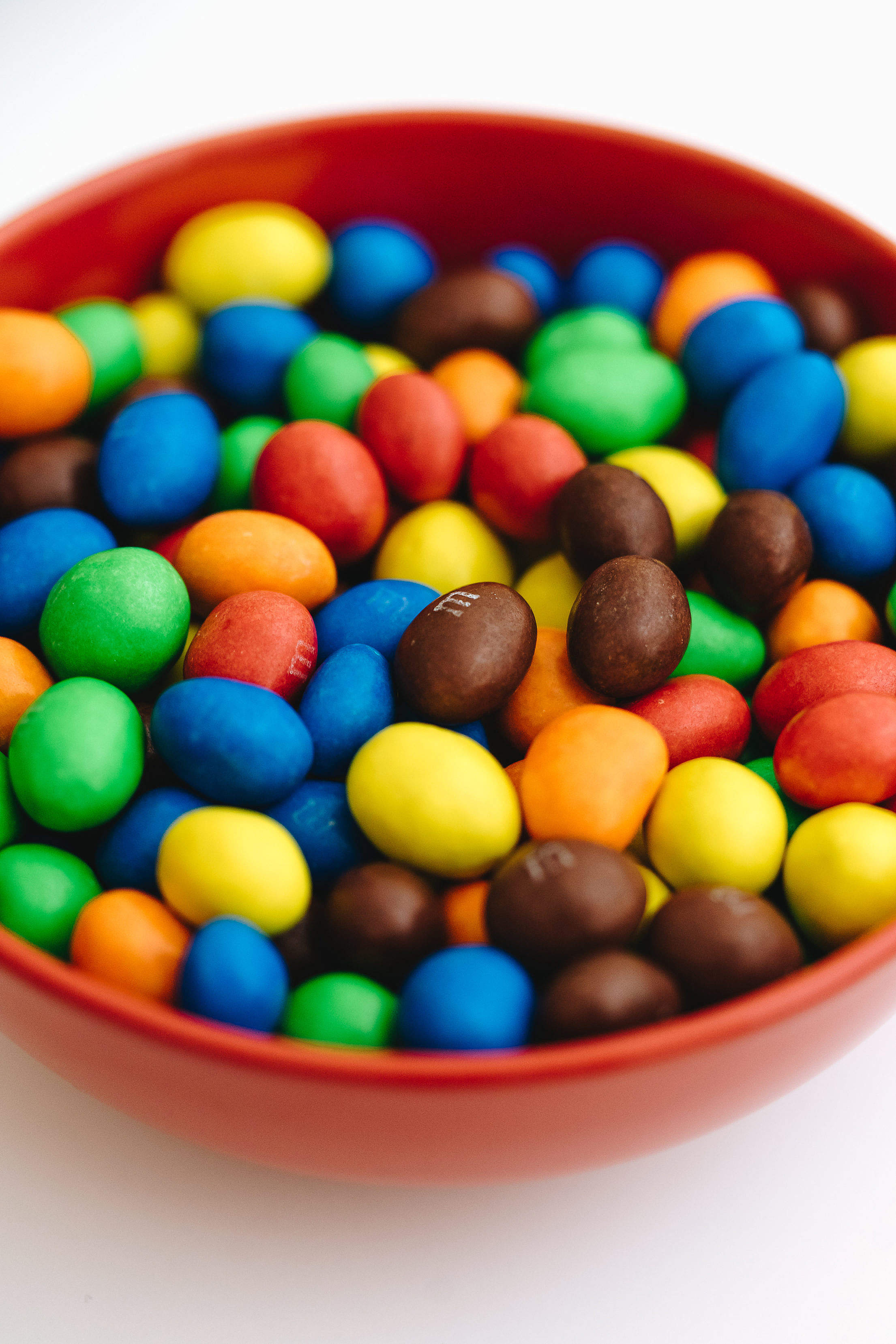 M&M's Peanut Chocolates in a Bowl Free Stock Photo