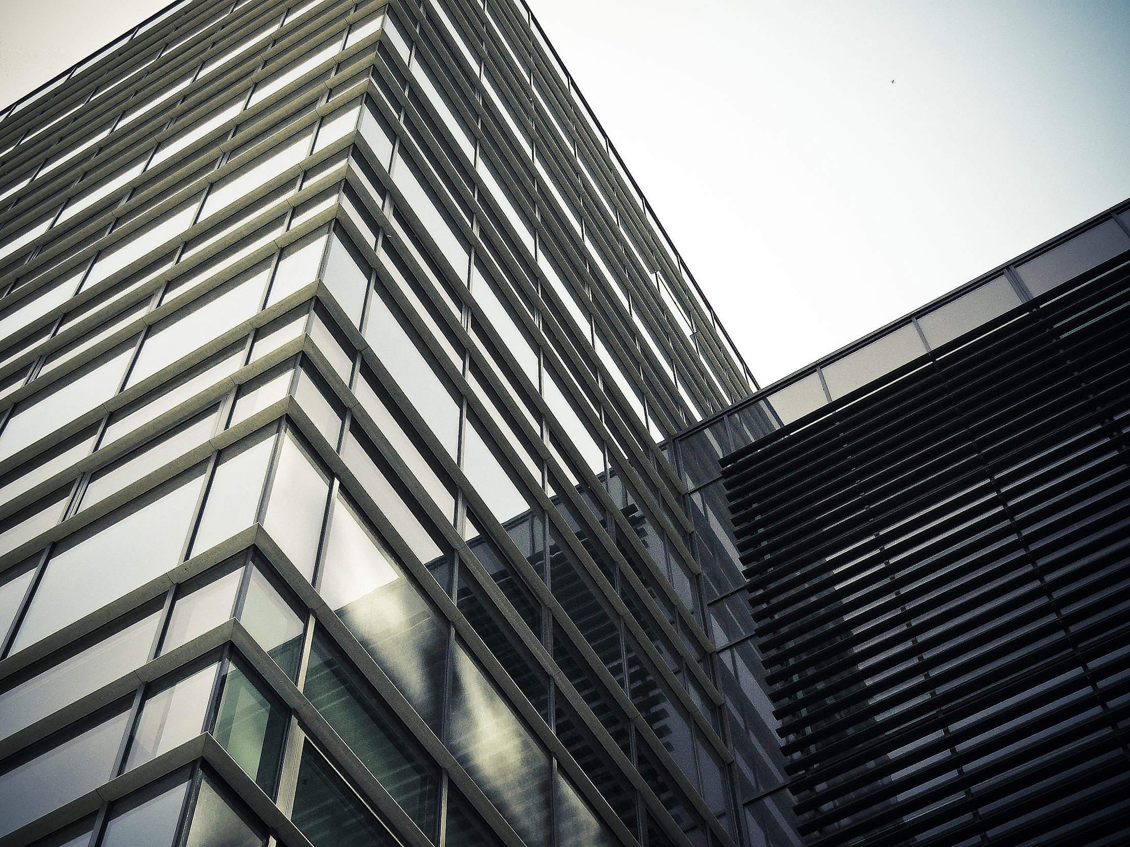 Modern Building Windows Free Stock Photo