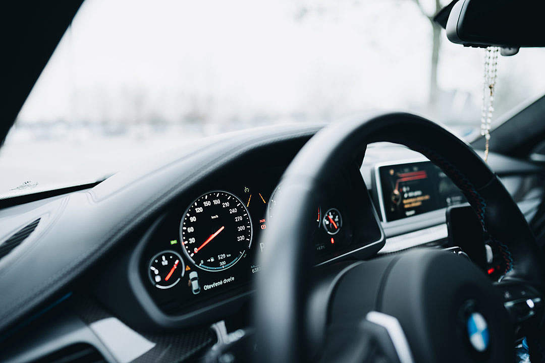 Download Modern Car Dashboard Speedometer FREE Stock Photo
