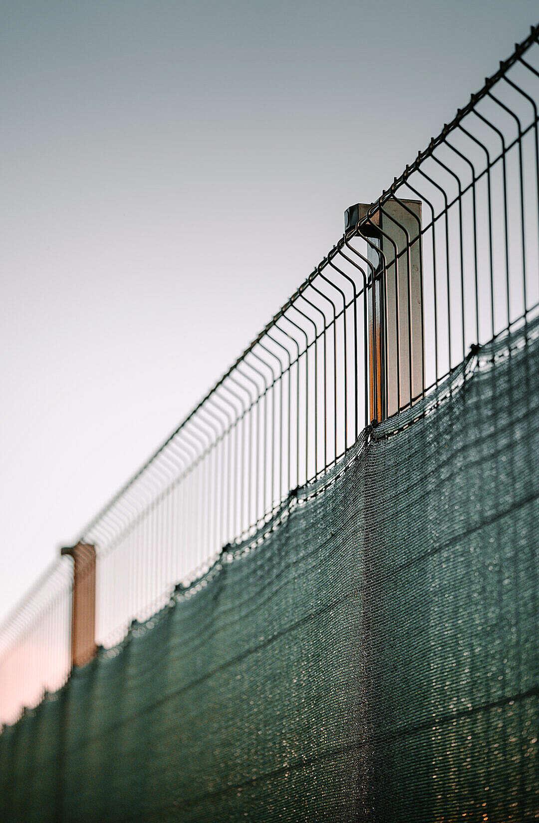 Download Modern Garden Metal Fence FREE Stock Photo